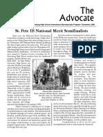 SPHS IB Advocate -  December 2006