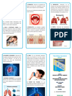 Triptico Enfermedades Que Afectan Al Sistema Respiratorio