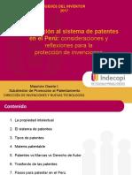09.02.17 Introducción Básica Al Sistema de Patentes en El Perú Consideraciones y Reflexiones Para La Protección de Invenciones