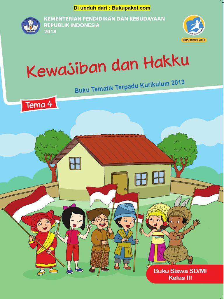 Buku Siswa Kelas 3 Tema 4 Revisi 2018