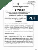Decreto 703 Del 20 de Abril de 2018