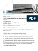 Rule 1940 Fire Protection and Control