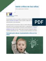 El pensamiento crítico en los niños.docx