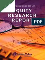 El Arte de Escribir Un Equity Research Report eBook