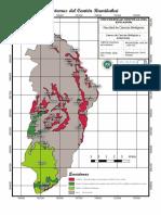 mapa ecosistemas del canton rumiñahui