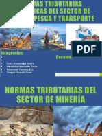 Normas Tributarias Sector Transporte PESCA