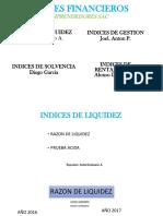 Indices Financieros