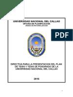 826-16-r Directiva Nº 009 Presentacion Plan de Tesis y Tesis Epg Anexo