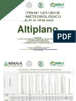 Boletín Agrometeorológico Nº 127-2018 Del 01 Al 10 de Julio-Altiplano
