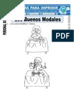 Ficha de Buenos Modales Para Primero de Primaria