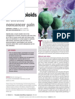 Use of Opioids in Chronic Non-Cancer Pain