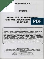 Manual for Rock Island Armory / Armscor .22 Carbine Semi Automatic Rifle M20C