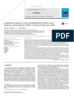21. Longitudinal Changes in Serum Proinflammatory Markers Across Pregnancy and Postpartum_Effects of Maternal Body Mass Index