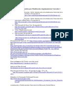 Bibliografía Recomendada Para Planificación e Implementación Curricular I