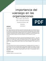 La Importancia Del Liderazgo. Esther Lopez Martinez