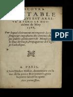 1588-Discours veritable sur ce qui est arrivé a Paris le douziéme de May 1588