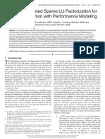 (Tsinghua) GPU-Accelerated Sparse LU Factorization