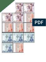 Billetes de 5 10 y 20