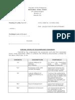 Formal Offer of Evidence Plaintiff