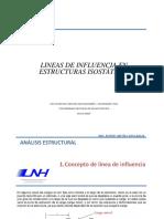 ANÁLISIS ESTRUCTURAL - LINEAS DE INFLUENCIA
