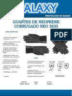 09041071 Ft - Guantes - Neoprene Corrugado Neo 14__- 3830
