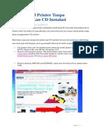 Install Printer Tanpa Menggunakan CD Instalasi Terbaru