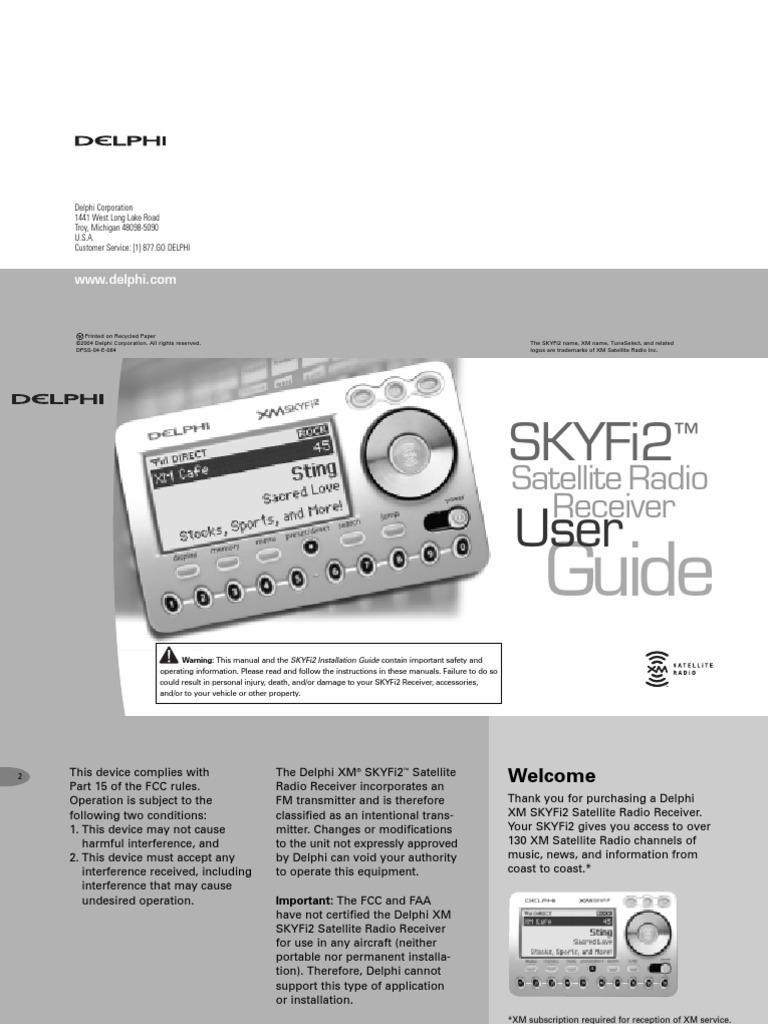 Delphi skyfi2 radio receiver manual frequency modulation radio biocorpaavc