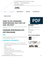 How to Do Standard Penetration Test (Spt) of Soil on Site
