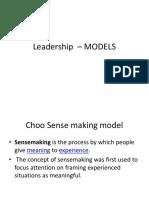Leadership – MODELS