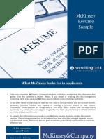 Resume Guideline Mc Kinsey