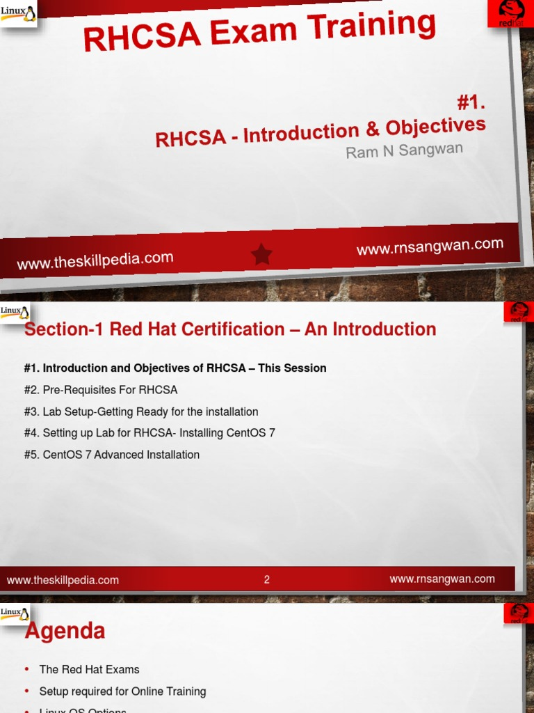Session 1 Introduction and Objectives of RHCSA | Linux | File System