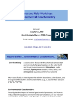 Lecture 1 Intro Enviro Geochem Course Ethio 2014
