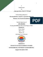 Internship Report on Cooperative Bank Pawan