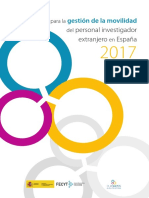 Guía Gestión Movilidad Investigador Extranjero en España 2017