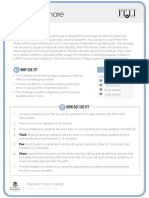 Think Pair Share Tip Sheet