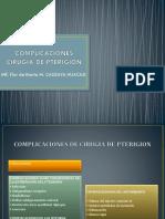 Complicaciones Cirugia de Pterigion