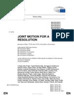 rezoluție în Parlamentul European privind anularea alegerilor din RM