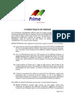 Accusé de détournement, le DG de PRIME POTOMAC réagit (enfin)