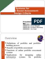 Designing Online Information systems for portfolio based assessment-Design criteria and heuristics