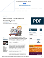 KAS_ Political & International Relation Syllabus - Careerindia