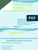 ENTERPRISE SYSTEMS SUCCESS