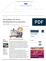 KAS Syllabus for Rural Development & Co-operation - Careerindia