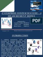 Enterprise Systems success-A measurement model