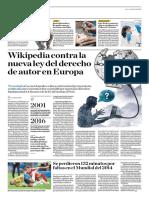 Wikipedia Contra La Nueva Ley Del Derecho de Autor en Europa