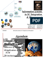 Information systems in SC Integration & Management