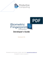 Developers Guide Biometric