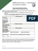Outpatient Adverse Event Form