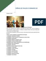 Temas de Experiência de Oração e Seminário de Vida