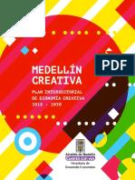 Plan Intersectorial de Economía Creativa de Medellín 2018-2030