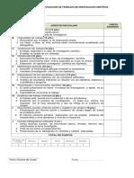 Formulario de Evaluación de Trabajos de Investigación Científica